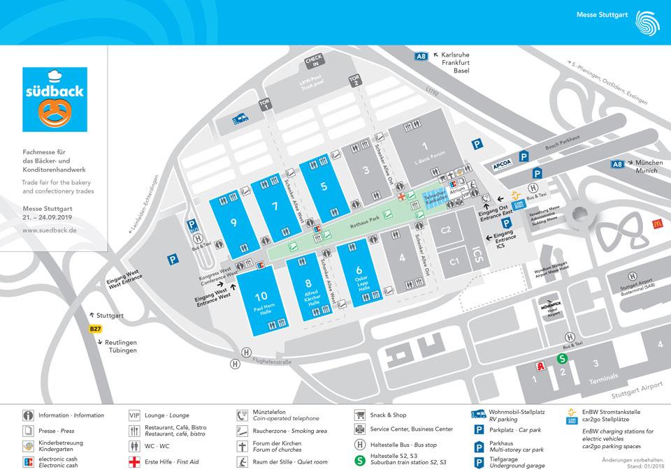 Südback 2019: mehr Fläche, neue Hallenstruktur