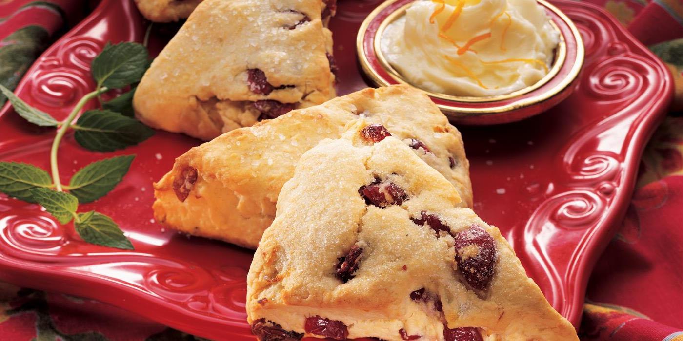 Für den Nachmittagskaffee: Cranberry-Orange Scones