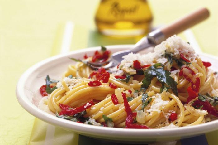 Schnelle Küche: Pasta mit Rucola und Knoblauch