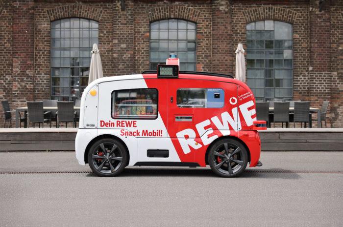 Rewe Snack Mobil: Selbstfahrender Kiosk jetzt im Regelbetrieb